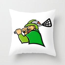 Archer Lacrosse Sport Mascot Throw Pillow