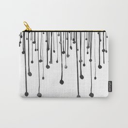 Abstract hand drawn black white water drops  Carry-All Pouch