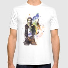 Han Solo From Star Wars  White MEDIUM Mens Fitted Tee