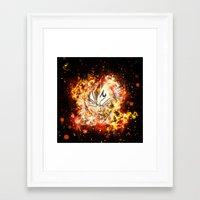 dbz Framed Art Prints featuring Goku Vegeta DBZ Face by K2idesign