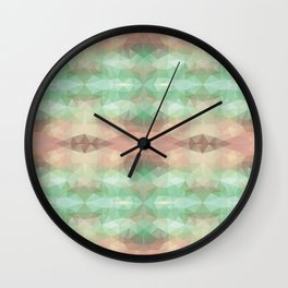 Mozaic design in soft pastel colors Wall Clock