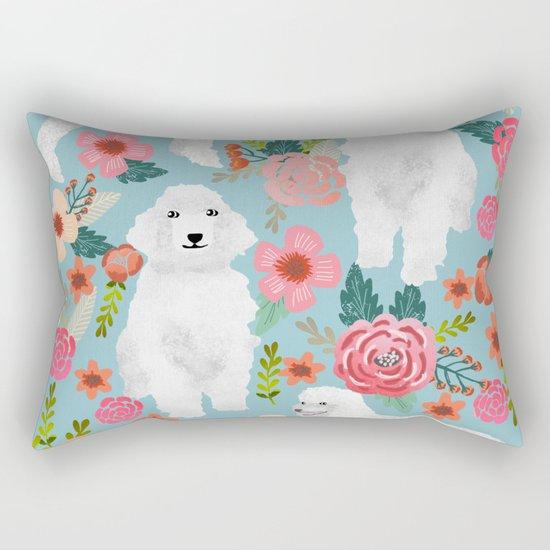 Standard Poodle white coat must have gifts for poodle owner dog breeds animal pet portrait dog art Rectangular Pillow
