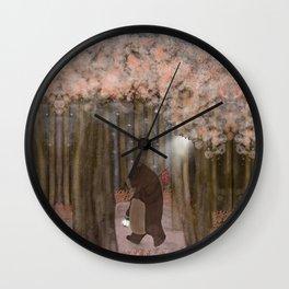 pickle wood Wall Clock
