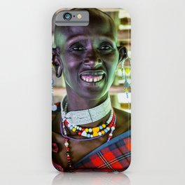 Maasai 4256 Ngorongoro Tanzania iPhone Case