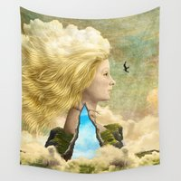 aurora Wall Tapestries featuring Aurora by Diogo Verissimo