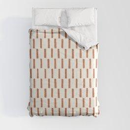 block print dash - terra cotta Comforters