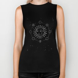 Moon, sun and elements Biker Tank