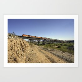 Topock Bridge Freight Art Print