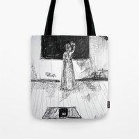 school Tote Bags featuring school by woman