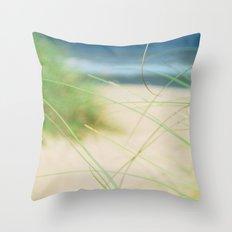 Green Wisps Throw Pillow