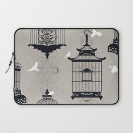 Mascara Empty Brid Cages Laptop Sleeve