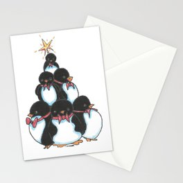 Penguin Tree Stationery Cards