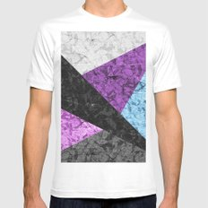 Marble Geometric Background G437 MEDIUM Mens Fitted Tee White