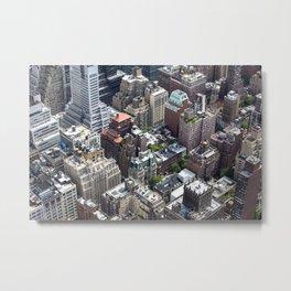 Roofs of New York. Metal Print