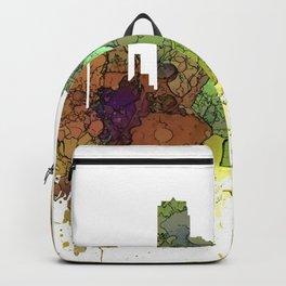 Jersey City Skyline - Safari Buff Backpack