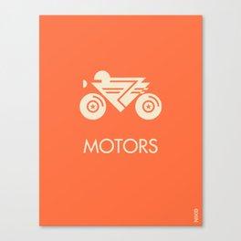 MOTORS / The Bike Canvas Print