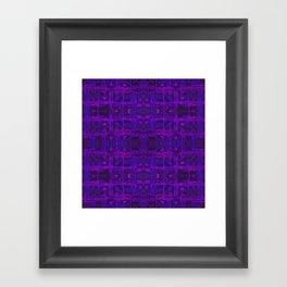 Ultra-Violet Weave, abstract pattern Framed Art Print