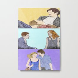 Before Sunrise Trilogy - Watercolor Metal Print