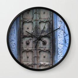 Doors Of Rajasthan IV Wall Clock