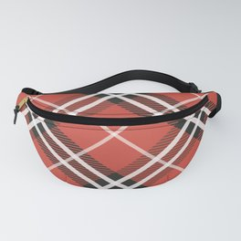 Plaid Pattern In Red Tones Fanny Pack