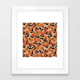 Seamless Citrus Pattern / Oranges Framed Art Print