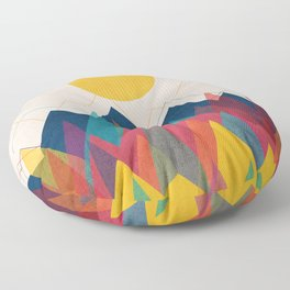 Uphill Battle Floor Pillow