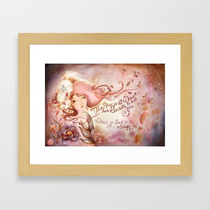Dawn Secrets Framed Art Print