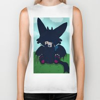toothless Biker Tanks featuring Toothless by DaemonDeDevil
