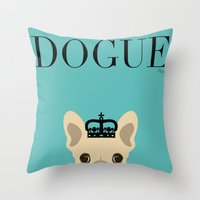 blondie Throw Pillows featuring BLONDIE! by Madame Millionaire