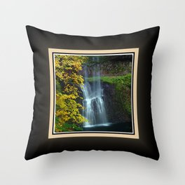 Lower South Falls East View, Silver Falls Oregon Series 1 of 2 Throw Pillow