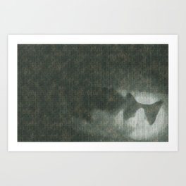 Cloudy day cat Art Print