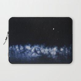 Contrail moon on a night sky Laptop Sleeve