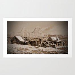 Historic Shaker Settlements, The Dalles, Or Art Print
