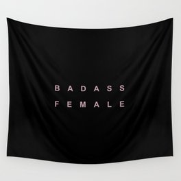 BADASS FEMALE Wall Tapestry
