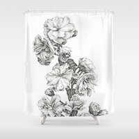 study Shower Curtains featuring Flower Study by Trisha Thompson Adams