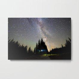 Milky Way at Mount Rainier, Washington Metal Print