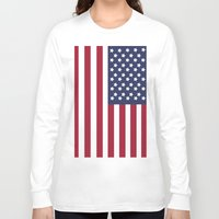 america Long Sleeve T-shirts featuring America. by Jake  Williams