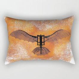 The Da Vinci Flying Machine Rectangular Pillow