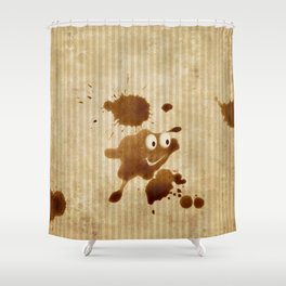 The Smile of Coffee Drop - Old Paper Style Shower Curtain