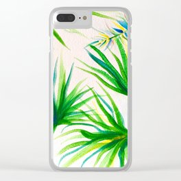 Breezy Palms Clear iPhone Case