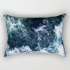 Wild ocean waves Rectangular Pillow