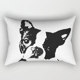 Very Mod, Very Cute.Boston Terrier Original Artwork Rectangular Pillow