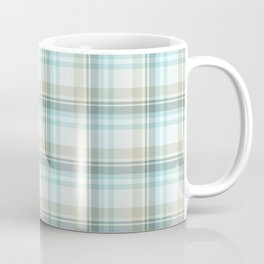 Soft Blue Plaid Coffee Mug