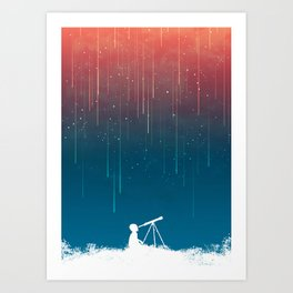 Meteor Rain (light version) Art Print