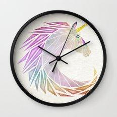 unicorn cercle Wall Clock