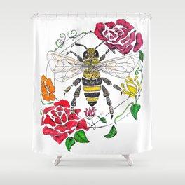 Honey (color) Shower Curtain