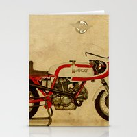 ducati Stationery Cards featuring Ducati 750SS Corsa 1974 by Larsson Stevensem