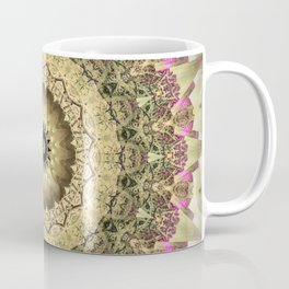 Vintage Gold Pink Mandala Design Coffee Mug