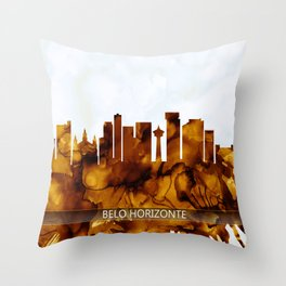 Belo Horizonte Brazil Skyline Throw Pillow