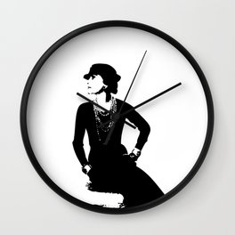 Mademoiselle Coco   Wall Clock